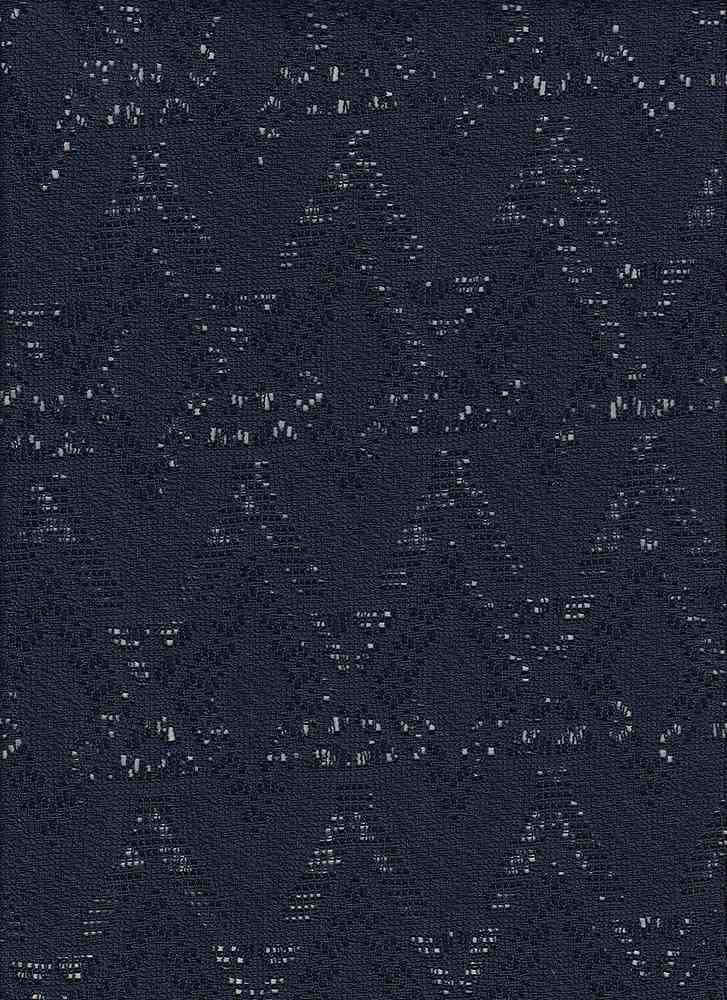"85016-1000 / #222NAVY / BROKEN DIAMOND CROCHET 100%POLY 62"" 110GSM"