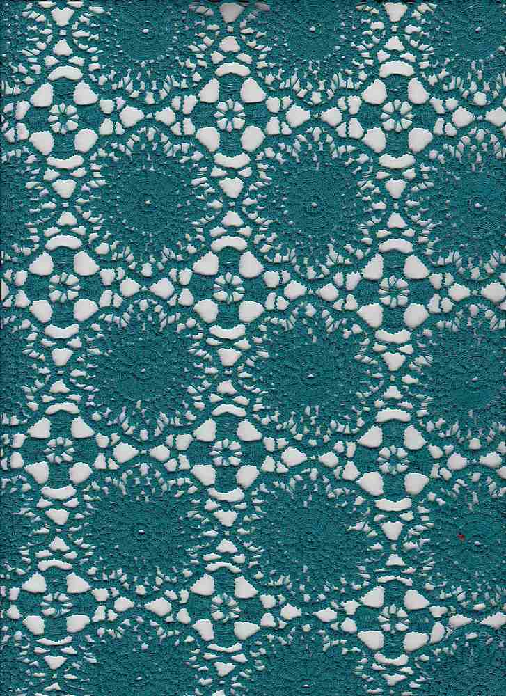 """91543-1000 / #666TEAL / JUDE CHEMICAL LACE 100%POLY 170GSM 48"""""""