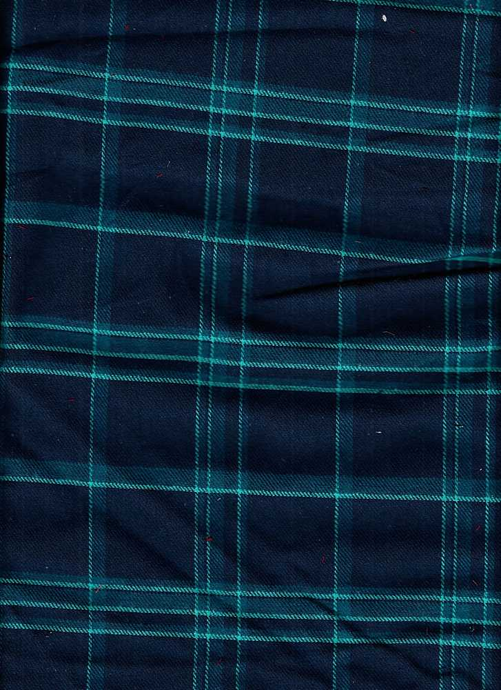 91550-74397 / #226NAVY/TEAL / CAPETOWN Y/D PLAID 100%COTTON BRUSHED 57/58 130GSM