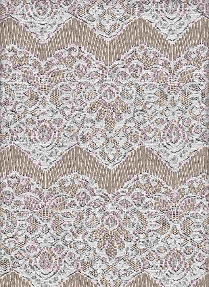 """85071-1100 / #111IVORY / NADIA BONDED LACE 100%POLY 175GSM 54"""""""