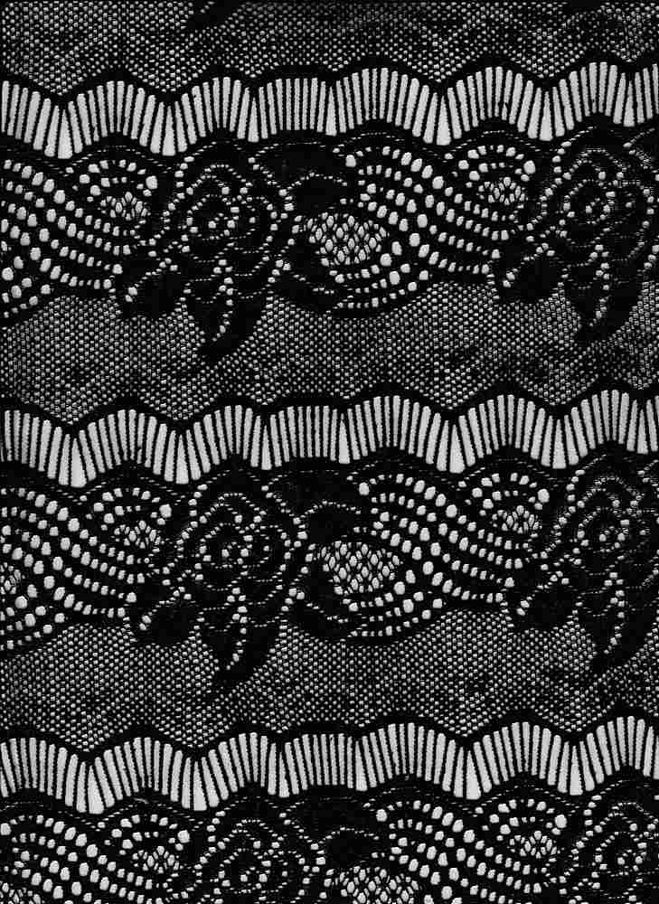 """85082-1000 / #000BLACK / Paula Chenille Lace 100%Poly 130gsm 52/53"""""""