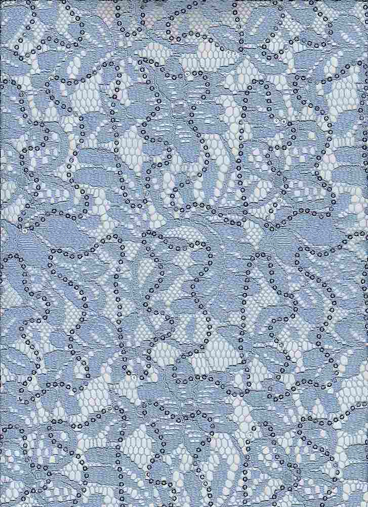 95004-1000SE / #212SWEET PERI / Tea Party Lace W/Sequins 65/35 Poly Rayon 137gsm