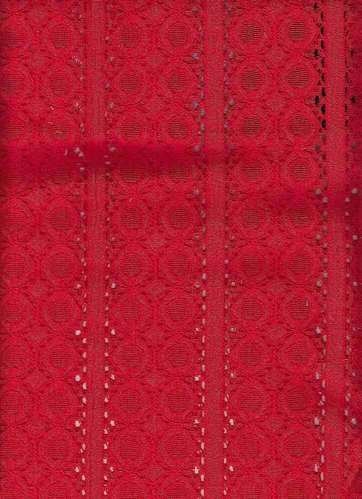 85109-1000 / #444RED / COURTNEY LACE 65/35 COTTON NYLON 134GSM 57""