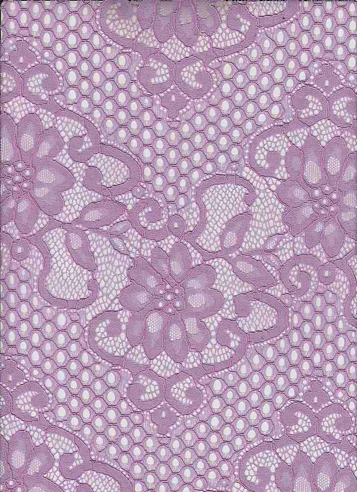 95026-1000 / #888SWEET VIOLET / Lattice Lace 65/35 Nylon Rayon 125gsm 57/58""