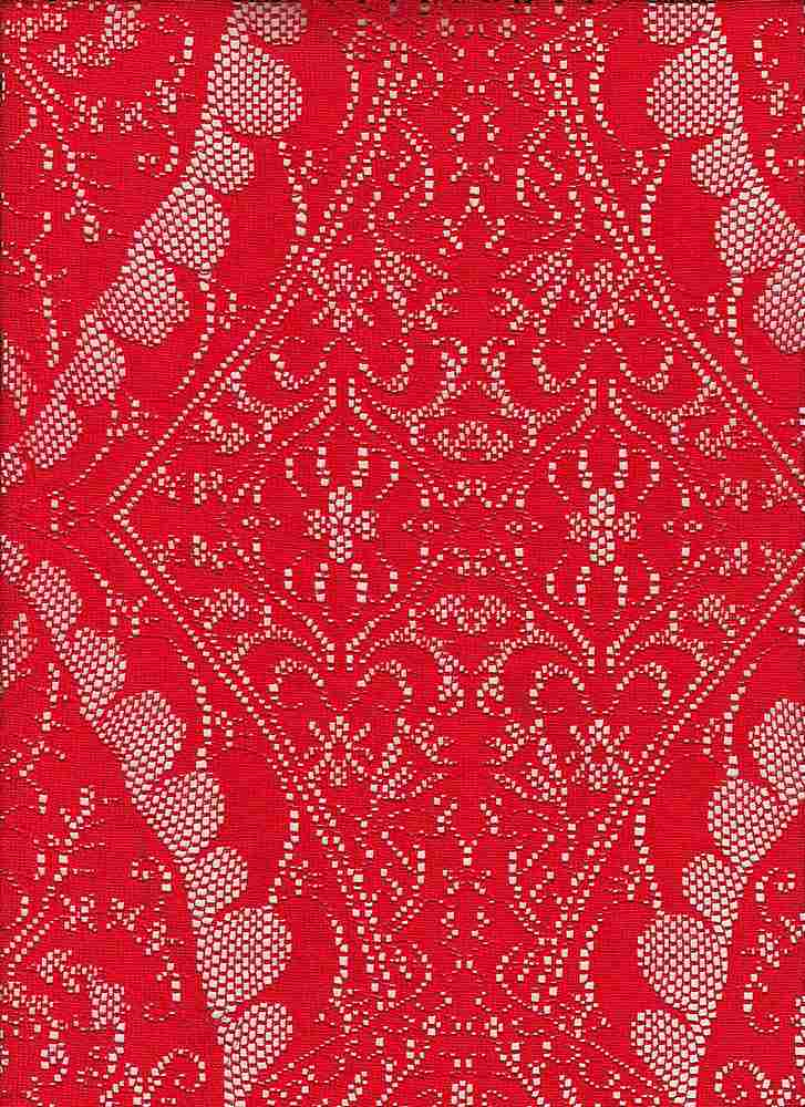 """95045-88011 / #444TROPIC SCARLET / PENNY MEDALLION LACE 95/5 POLY SPAN 103GSM 57"""""""