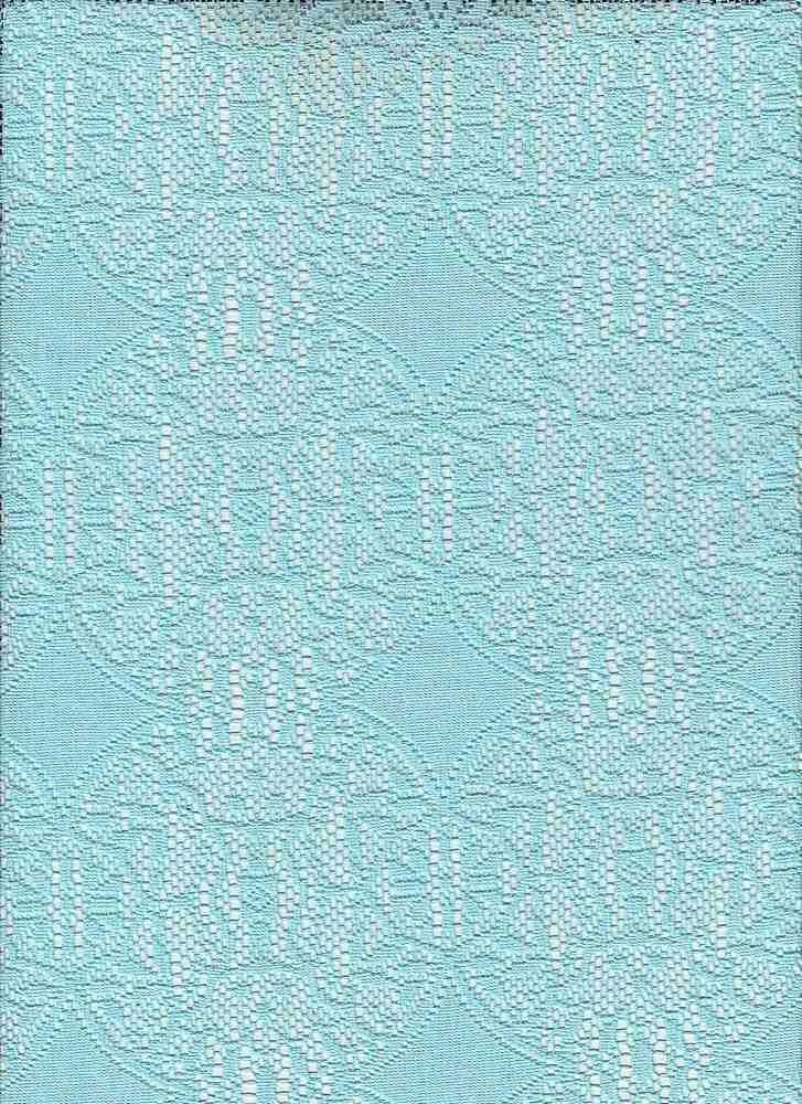 """95050-88010 / #333SHORE TURQ / SUMMER MEDALLION LACE 95/5 POLY SPAN 100GSM 57"""""""