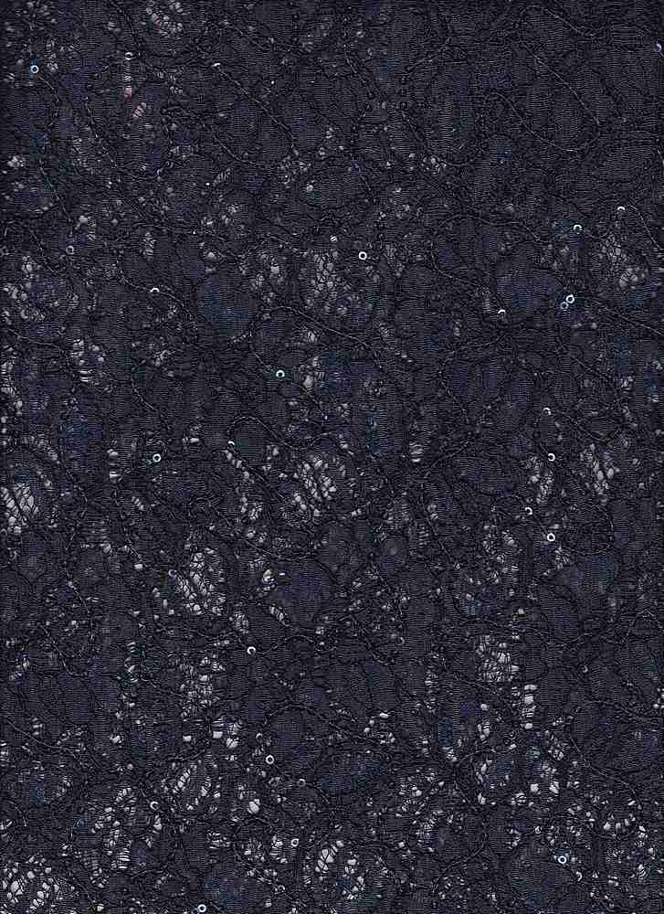 95068-1000 / #222RETRO NAVY / OCCASION LACE 60/40 NYLON RAYON + SEQUINS 125GSM