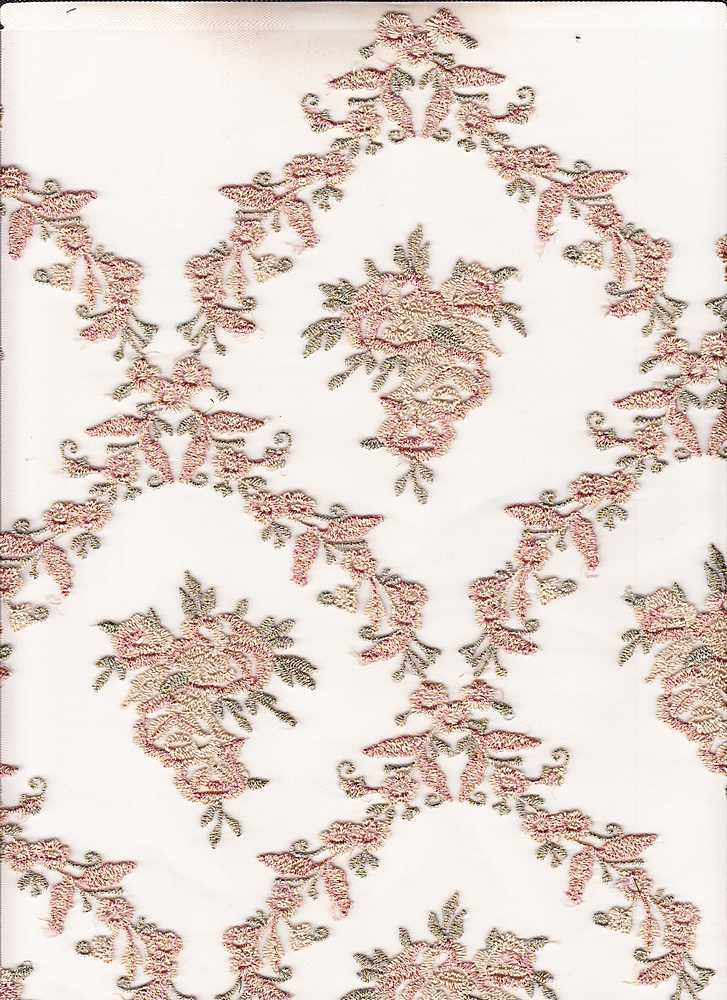 95105-88026SB / #999BLUSH / EVENING AFFAIR MESH EMBROIDERY 100%NYLON 55GSM