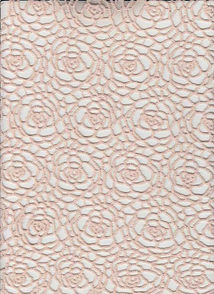 """91571-1000 / #999DOLCE PEACH / DAPHNE CHEMICAL LACE 100%POLY 150gsm 46"""""""