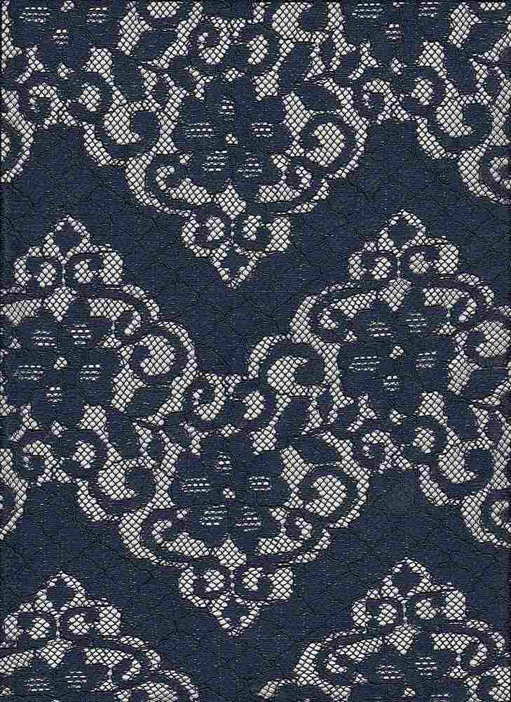 """85155-1000 / #222NAVY / MAPLE CORDED LACE 100%POLY  120GSM 57"""""""