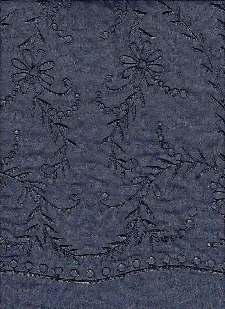 """95057-88063DB / #222NAVY / Serenade Embroidery 100%Poly 53/54"""" 100gsm"""