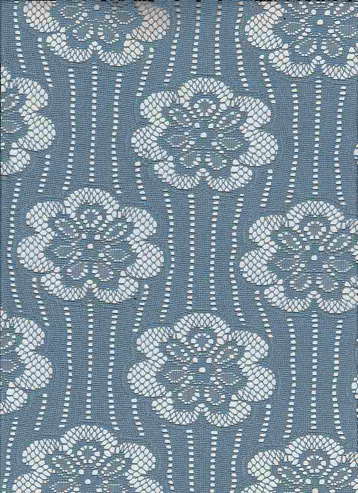 """85171-88096 / #212FADED DENIM / WALLPAPER FLORAL LACE 100%POLY 85GSM 57/58"""""""
