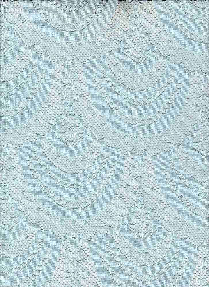 """95119-88080 / #212WASHED BLUE / FRANCINE LACE 90/10 POLY SPAN 106GSM 57"""""""