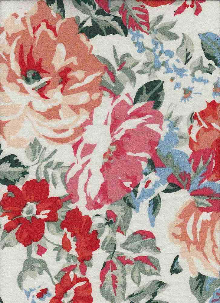 1629-65669 / #194IVO/ORG/RED / 100% Rayon PARADISE GAUZE Pre-Shrunk S/P - 105 GSM