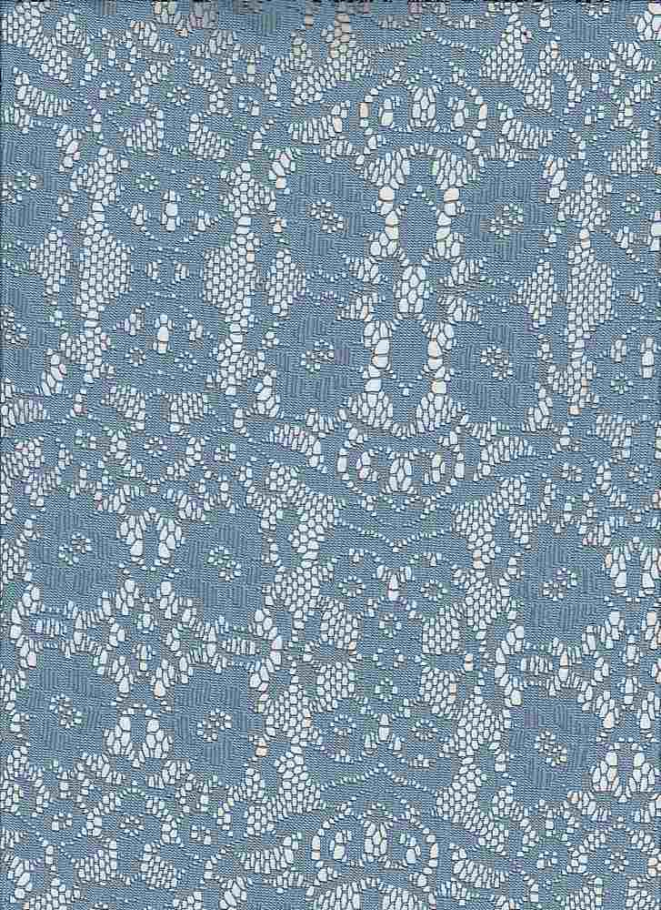 """85187-88074 / #222FADED DENIM / ABIGAIL LACE 95/5 POLY SPAN 105GSM 57"""""""