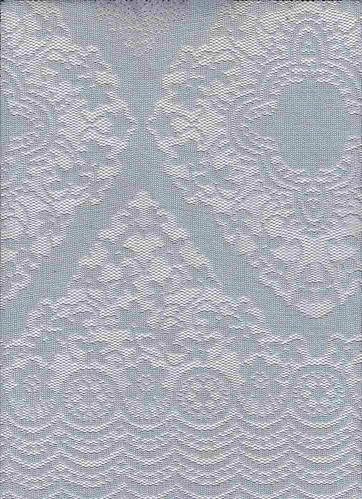 """95125-88083DB2 / #010SOFT SILVER / GISELLA LACE 100%POLY 83GSM 57"""""""