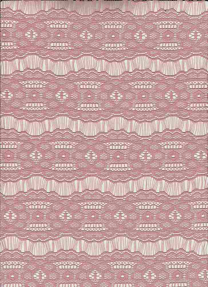 """85185-1100 / #999ROSE PEACH / FAY STRIPE LACE 100% POLY 70GSM 57/58"""""""