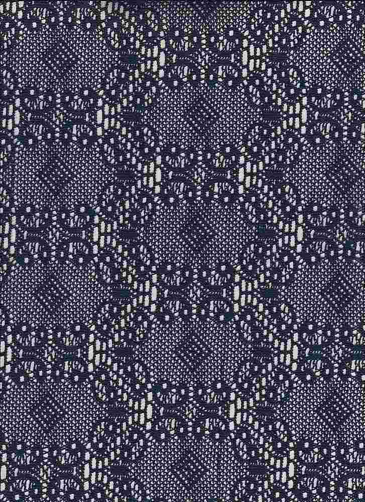 85189-1100 / #222NAVY / KENDELL CROCHET 100% POLY 125GSM 57/58""