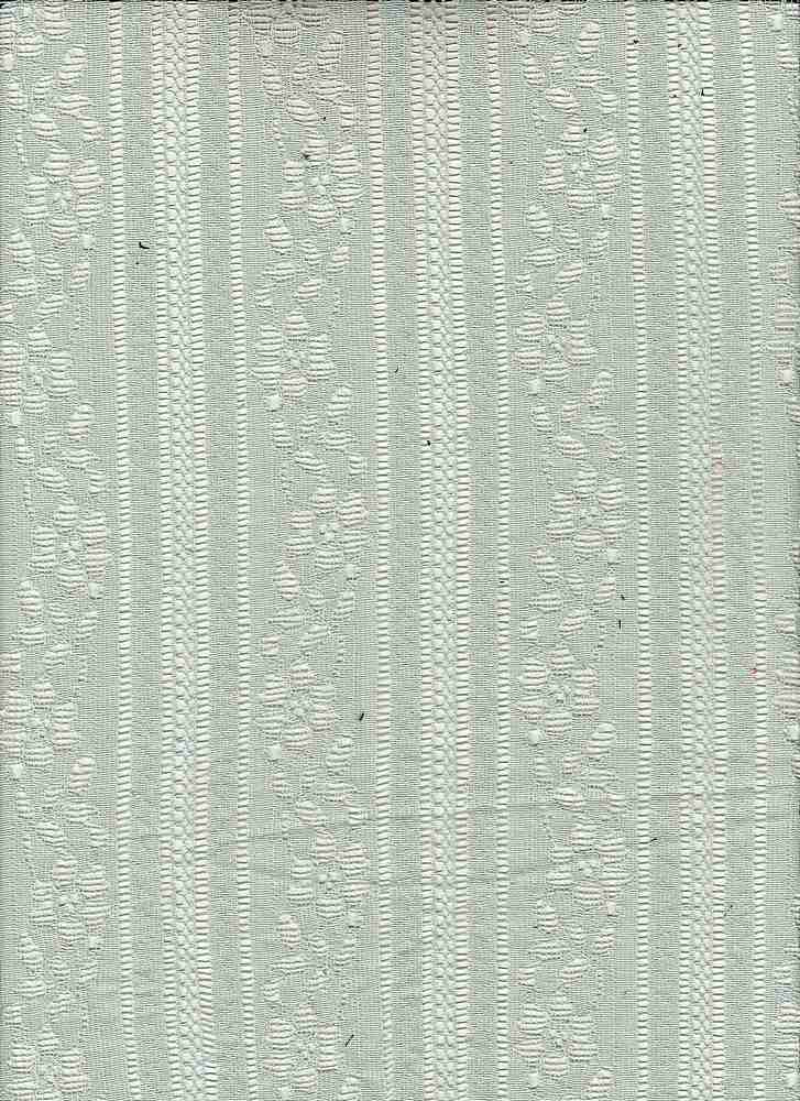 85195-1100 / #333SOFT SAGE / FRANCHESCA LACE 65/35 COTTON NYLON 115GSM 57""