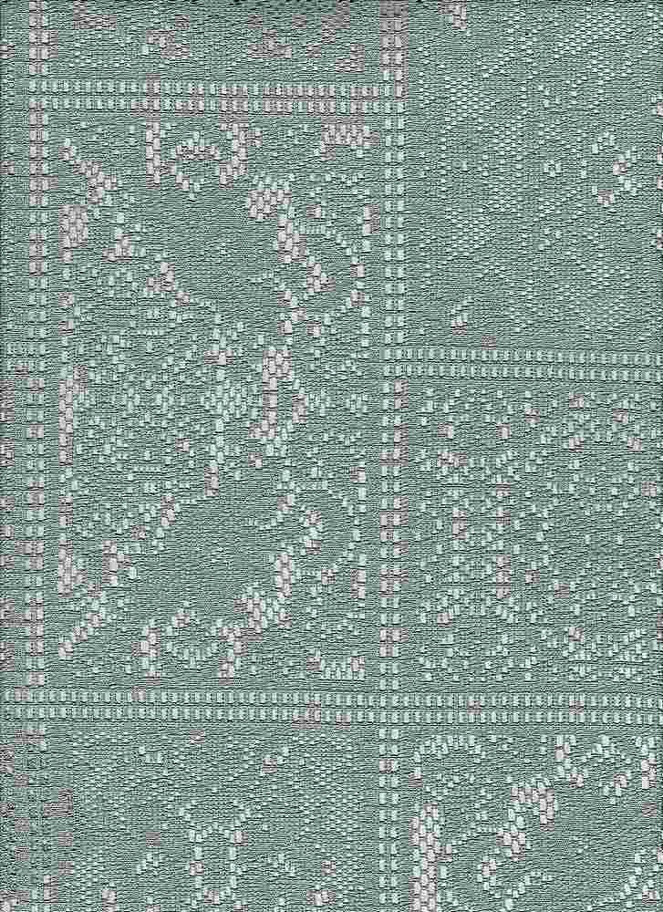 """85196-88148 / #333SAGE / MARIANA PATCH CROCHET 100% POLY 150GSM 57/58"""""""