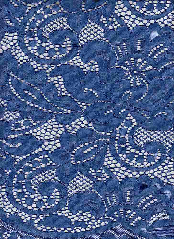95132-1000SE / #222ELECTRIC BLUE / WINTER FLORAL LACE  37/35/28CTN RYN NYLN 145GSM