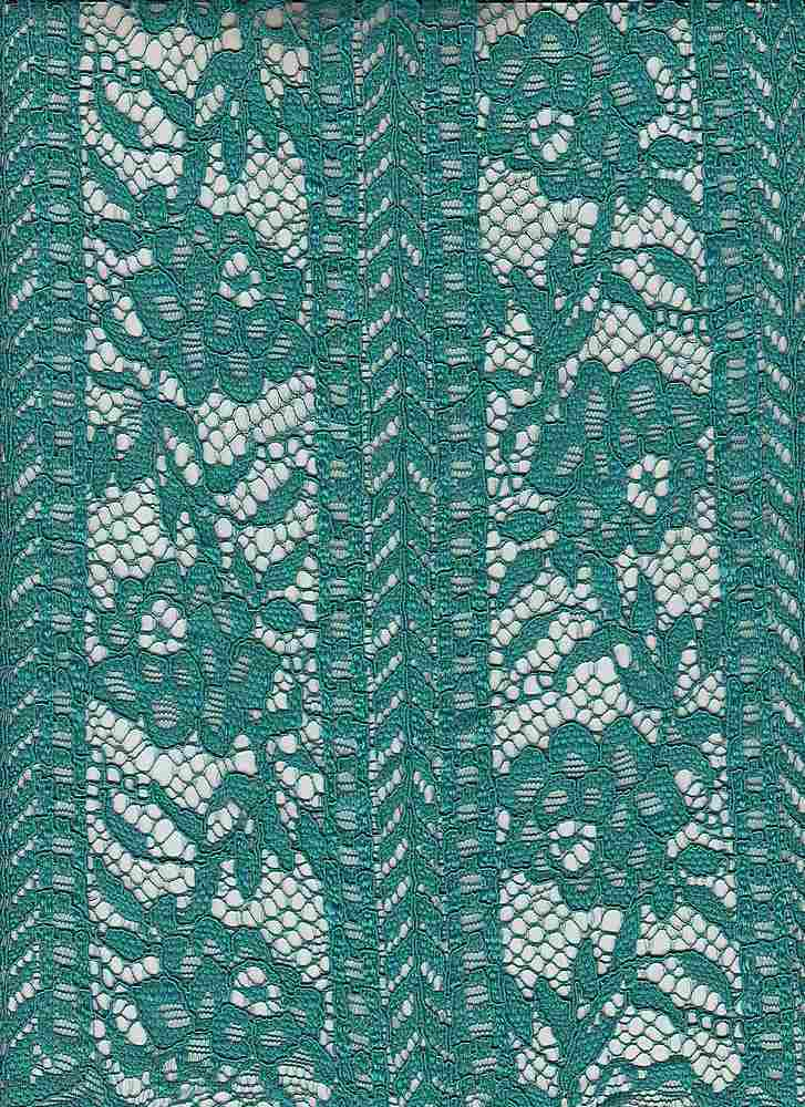 95134-1000SE / #333ARTISTIC JADE / ROSE PANEL LACE 100% POLY 208GSM 57""