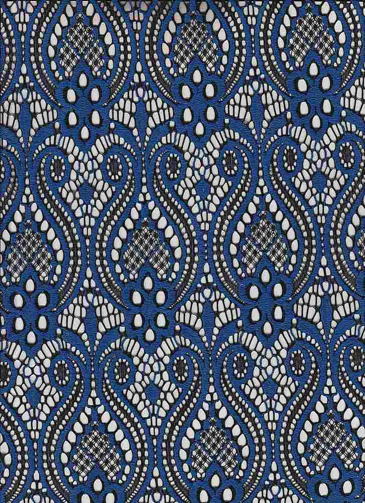 """95141-1000 / #222ELECTRIC BLUE / DECORATOR LACE 65/30/5 NYLON PLY SPAN 150GSM 57"""""""