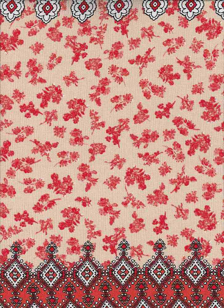 1647-74774-RB #549TAN/RED/ORG NOVELTY
