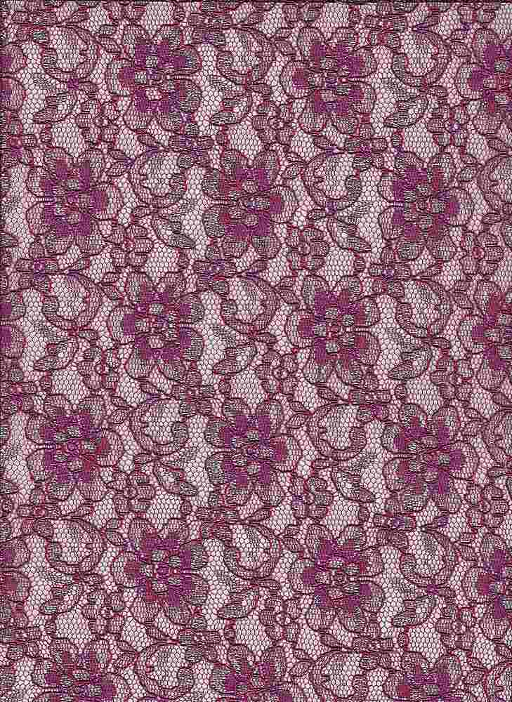 """95172-1000 / #888BERRY / HOLLYWOOD LACE 50/40/10RYN NYLN LRX 57 105GSM """""""