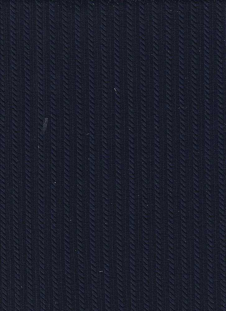 """95189-1000 / #222DISCO NAVY / CABLE KNIT JAQ 98/2 POLY SPAN 220GSM 57"""""""