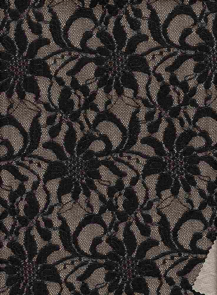 95176-1000 / #007BLK/GLD / DANIELLE BONDED LACE 58/40/2NYLN PLY SPN 245GSM