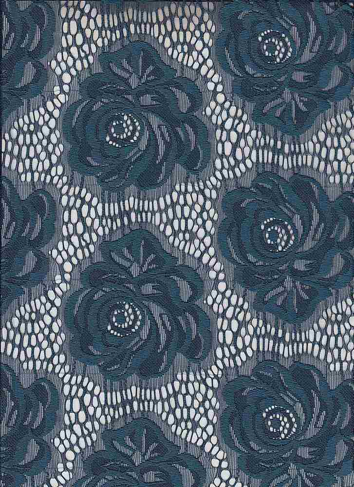 85267-1001SE / #222SOFT NAVY / MADELYN ROSE LACE 92/8 NYLON SPAN 120GSM 57/58""