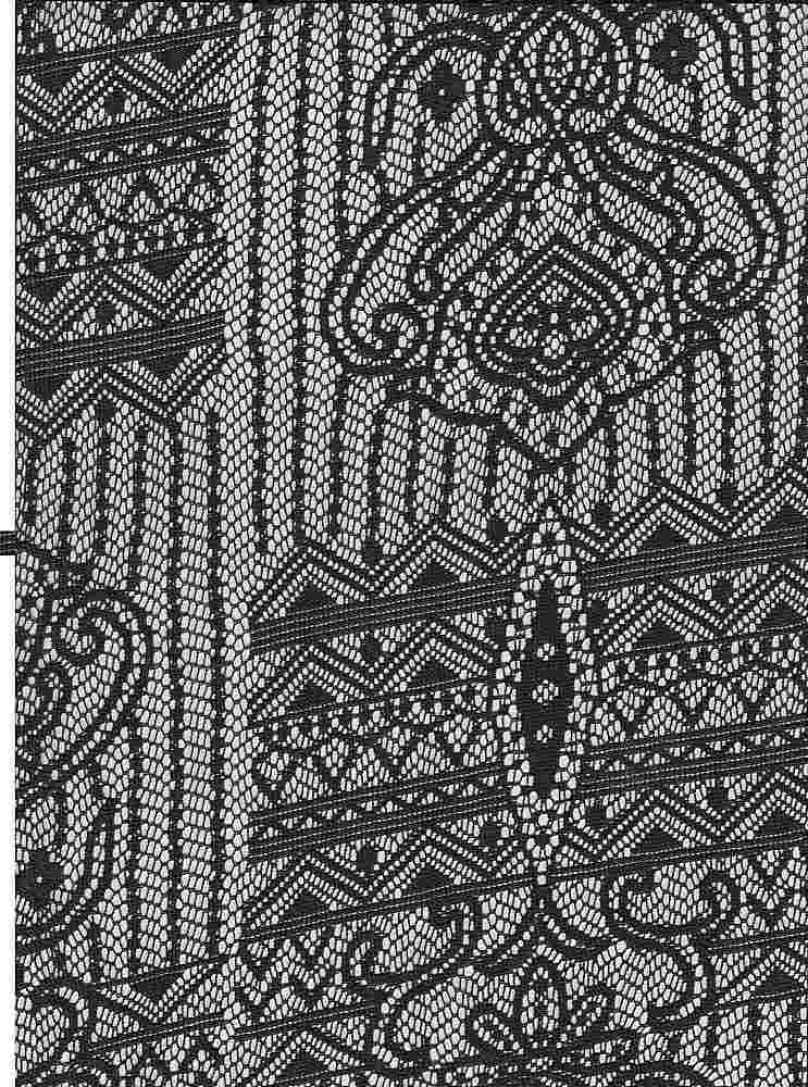 """85317-88198 / #010CHARCOAL / EMPRESS LACE  100%POLY 85GSM 57"""""""