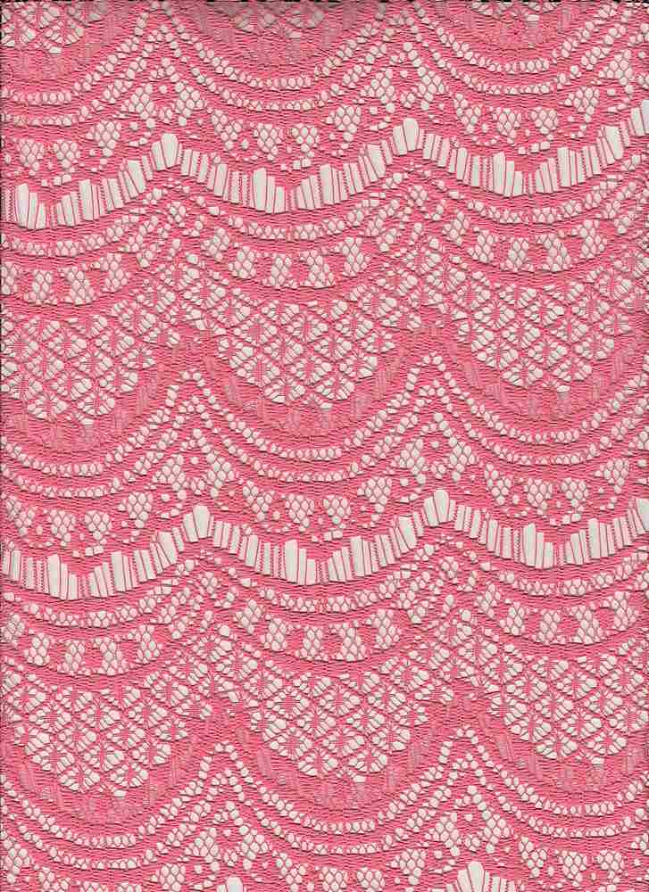 """95295-1100 / #444HIBISCUS PINK / Angel Lace 100% Poly 125gsm 57"""""""