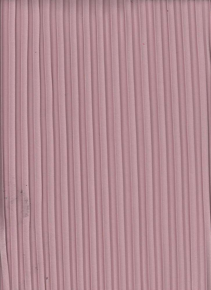 "95352-1000 / #444MAUVE / PLEATED INTERLOCK 100% POLY 58"" 190GSM"