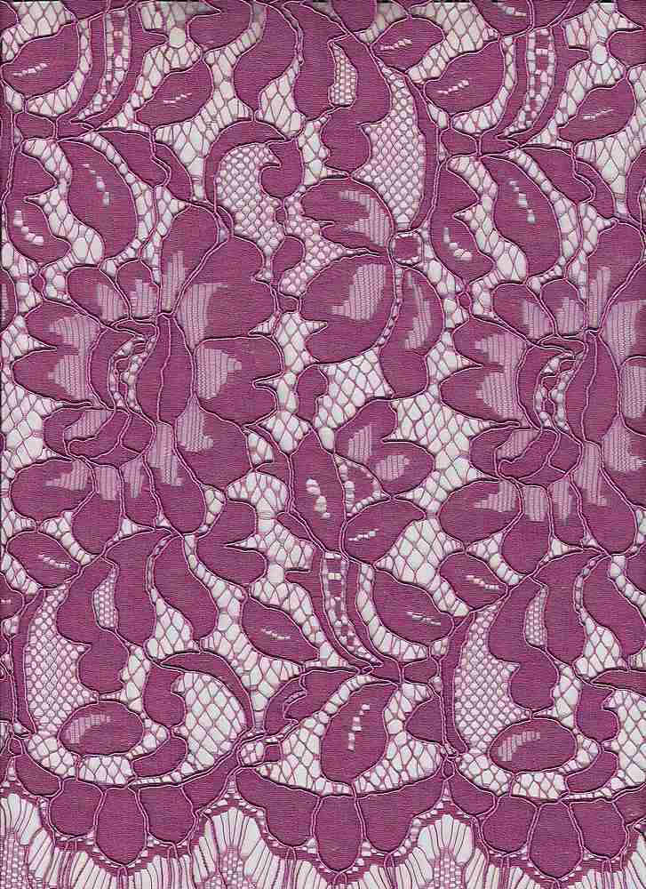 """95353-1000RB / #888STAR VIOLET / ANNIE CORDED LACE 35/35/30 CTN RYN NYLN 150GSM 57"""""""