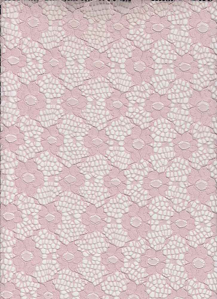 85361-1100 / #414PETAL PINK / MADELINA CORDED LACE 90/10NYLON SPAN 133GSM 56/57