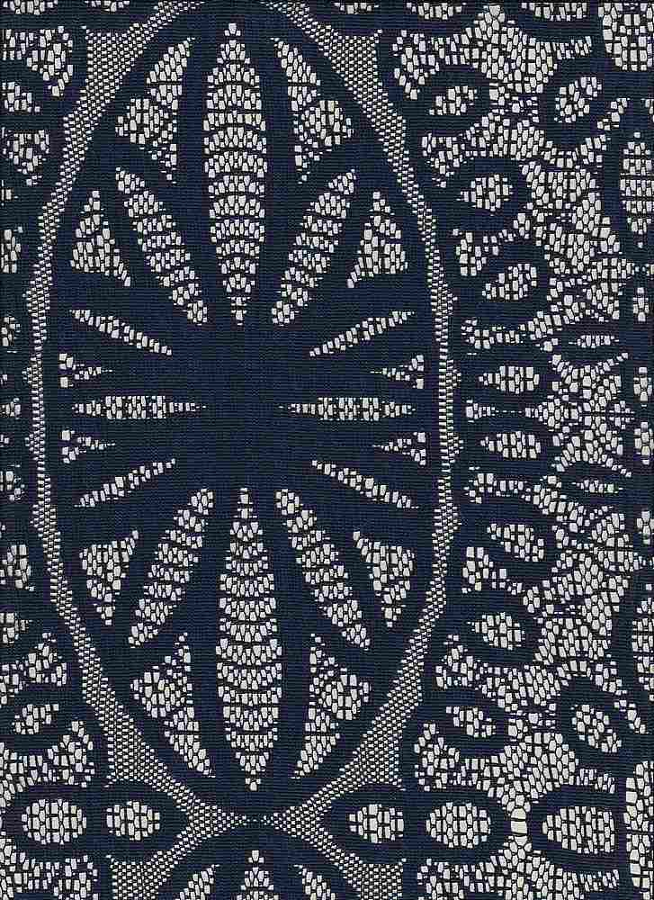 95362-88238 / #222NAVY / DREAM MEDALLION LACE 90/10PLY SPAN 105GSM 57""