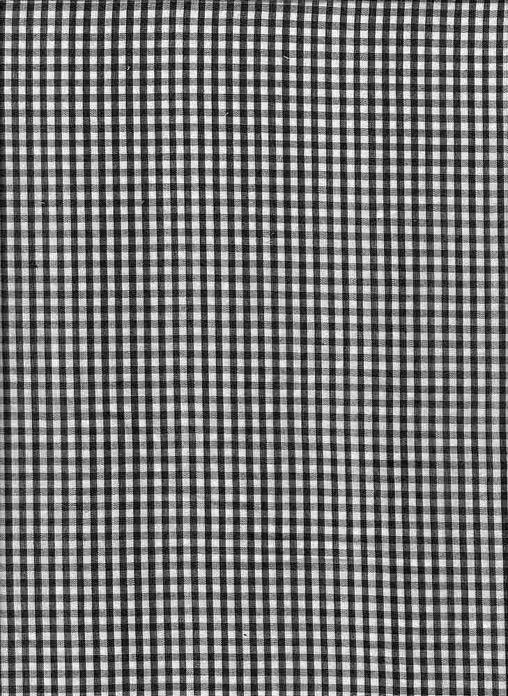 """91719-1000 / #000BLACK / LUCILLE GINGHAM CHECK 100%COTTON 90gsm 56"""""""