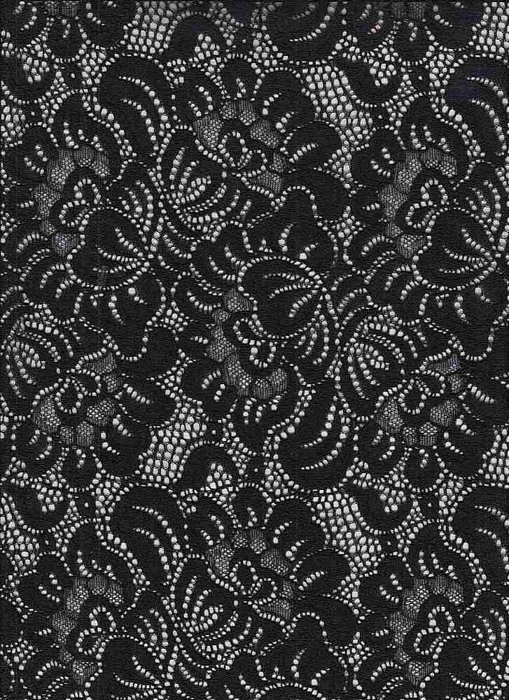 95400-1000SE / #000BLACK / POLINA STRETCH LACE 90/10NYLON SPAN 145GSM 58""