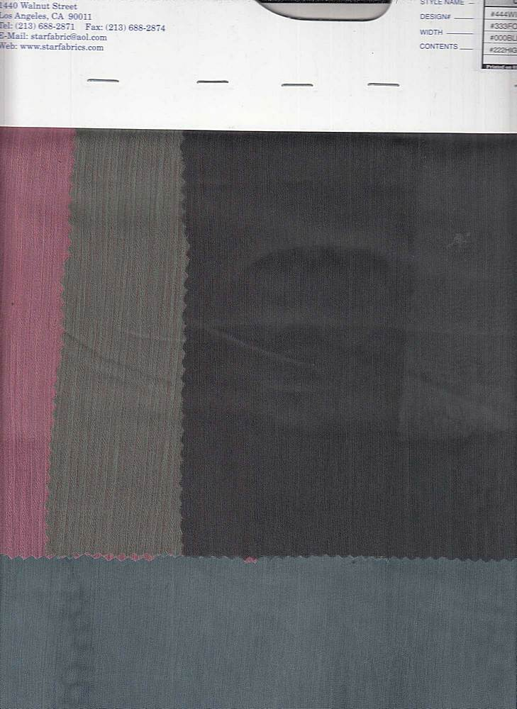 """91772-1000 / #333FOREST / Yoryu Pigment Dyed 100% Poly 53/54"""" 85gsm"""