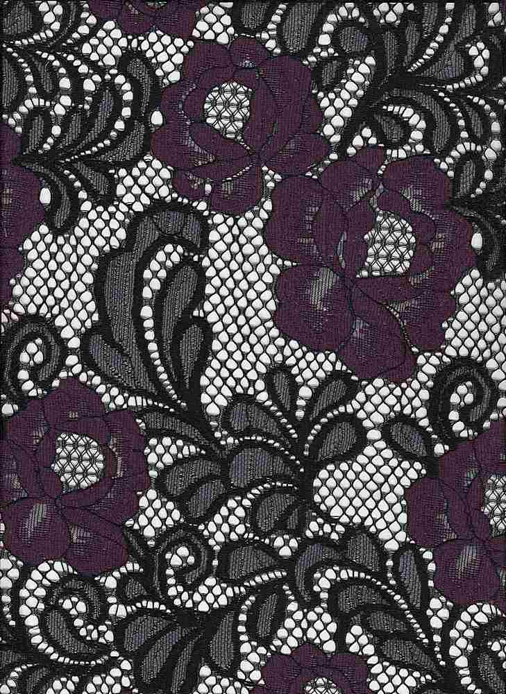 95433-1000 / #888EGGPLANT / KAILEY 2 COLOR LACE 50/30/20nyln Ctn Ply 100gsm 58""