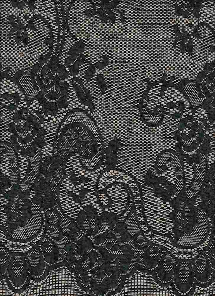 """85534-1001DB / #005BLK/SHEER NUDE / FRENCHIE POLY BONDED LACE 100%POLY 185GSM 54/55"""""""