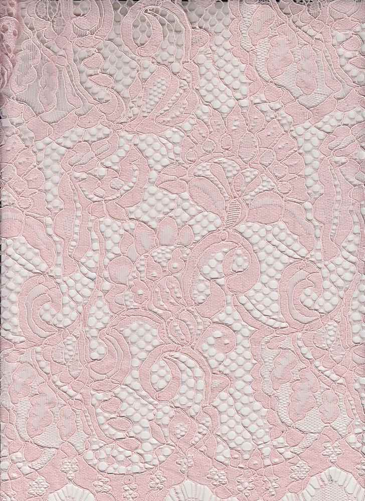 """95457-1000RP / #444PINK PETAL / TAMMY CORDED LACE 55/45NYLON COTTON 140GSM 59"""""""