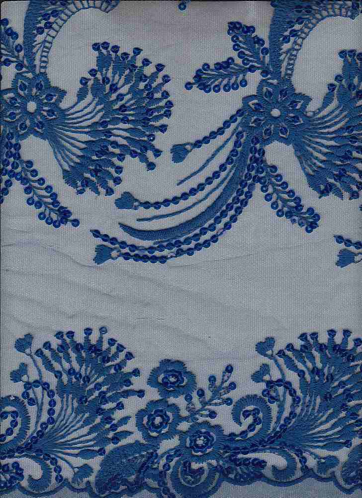 """95467-1000 / #222ROYAL FLOWER / JULES EMBROIDERY SEQUINS 100%NYLON 95GSM 48/49"""""""