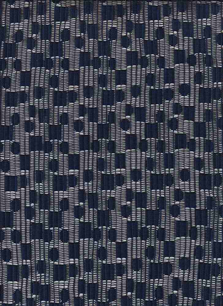 """85559-1000 / #222NAVY / BOXED PLEATED LACE 100%POLY 115GSM 58"""""""