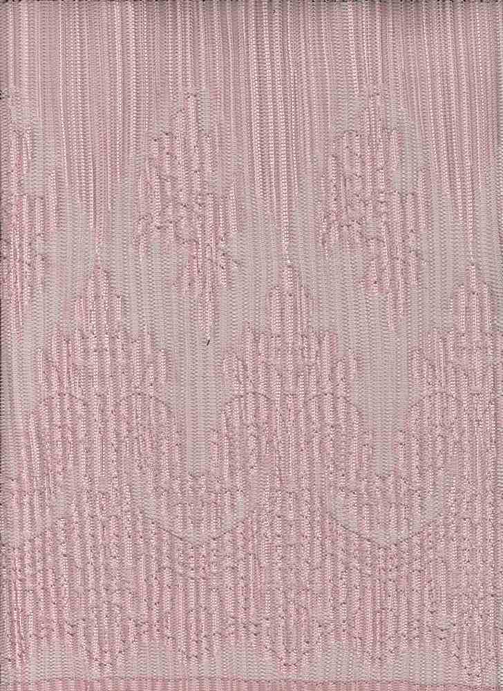 """85560-1000DB / #444MISTY ROSE / FLEUR PLEATED LACE 100%POLY 100GSM 58"""""""