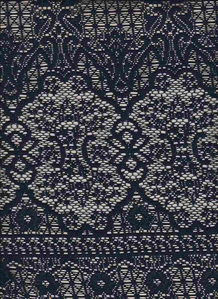 85566-88276DB / #222NAVY / GENESIS LACE 100%POLY 115GSM 56/57""