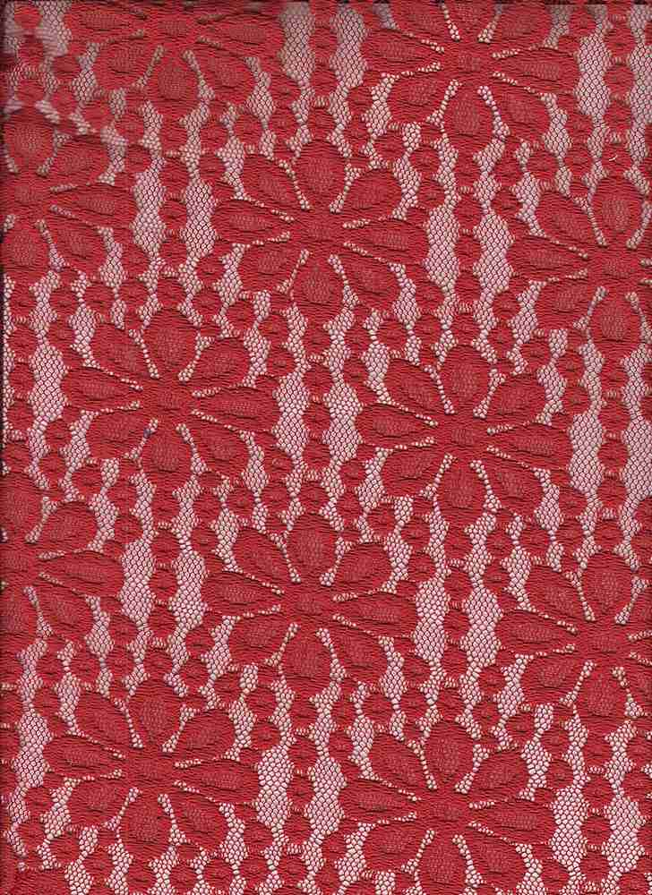 """85582-1100 / #444RED GINGER / HOPE STRETCH LACE 60/35/5PLY NYLN SPN 140GSM 56/57"""""""
