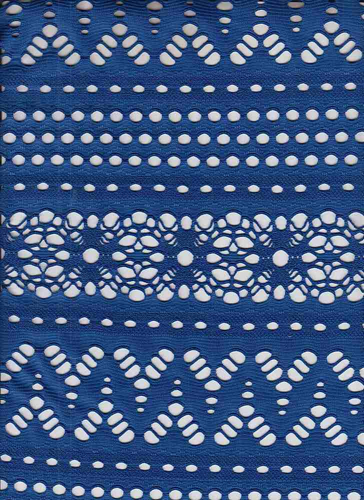 85584-1000 / #222BLUE HAWAII / YACHT STRIPE CROCHET 95/5ply Spn 180GSM 60""